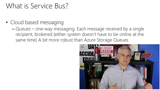 Microsoft Azure Fundamentals: Virtual Machines: (31) Tour of App Services: Service Bus