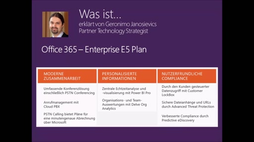 Was ist ... Office 365 - E5