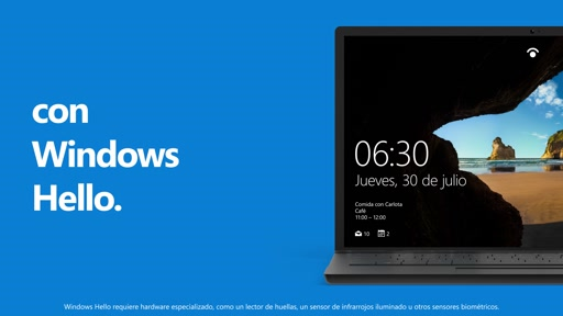 Ventaja N° 7 de Windows 10 - Hello