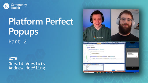 Platform Perfect Popups - Part 2 (Xamarin Community Toolkit)