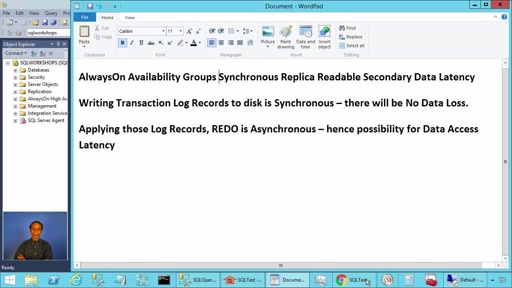AlwaysOn Availability Groups Synchronous Replica Readable Secondary Data Access Latency