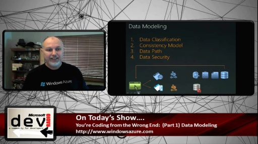 Microsoft DevRadio: (Part 1) You're Coding from the Wrong End:  Data Modeling