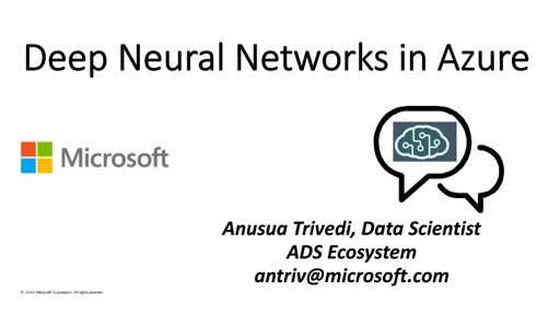 Deep Neural Networks in Azure: Transfer Learning and Fine-tuning