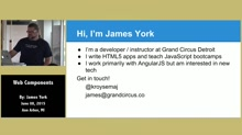 Web Components by James York