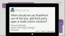 When should we use SharePoint out-of-the-box, add third-party apps or build custom solutions?