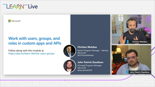 Microsoft Identity - Work with users, groups, and roles in custom apps and APIs