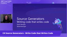 C# Source Generators - Write Code that Writes Code