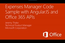 Getting started with the Expense Tracker AngularJS/Office 365 API Code Sample