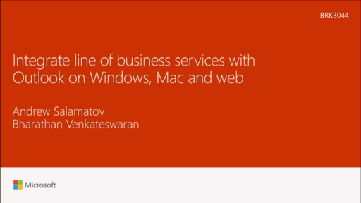 Integrate line-of-business services with Outlook across Windows, Web and now Mac!