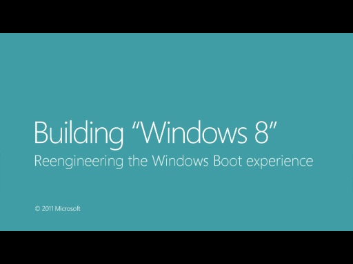 Reengineering the Windows Boot experience