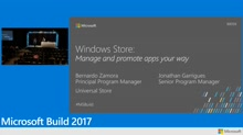 Windows Store: Manage and promote apps your way
