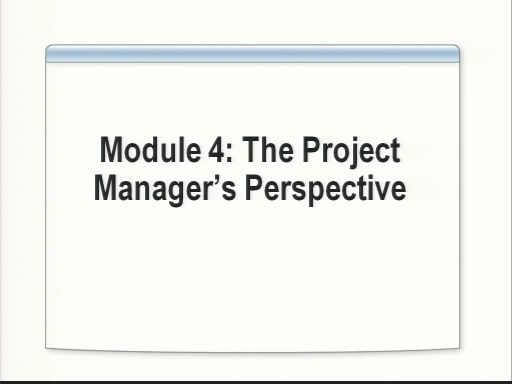 VS2008 Training Kit: The Project Managers Perspective