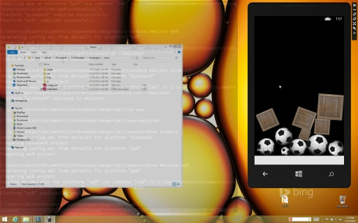 Apache Cordova CLI for Windows devices