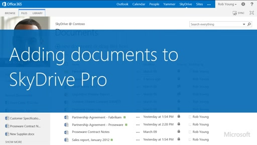 Add files to OneDrive