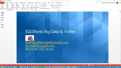 SQLShorts: Big Data and Twitter