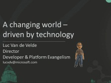Keynote: A changing world – driven by technology