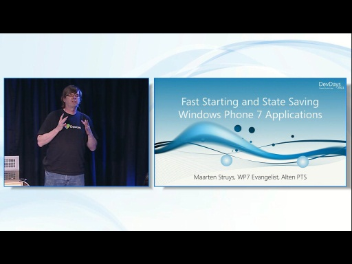 Windows Phone 7: Fast Starting and State Saving Windows Phone 7 Applications
