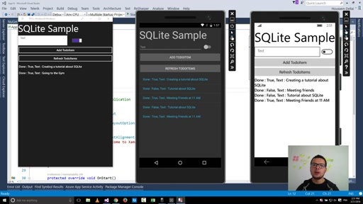 Using SQLite with Xamarin Forms