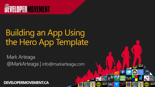 Building an App Using the Hero App Template