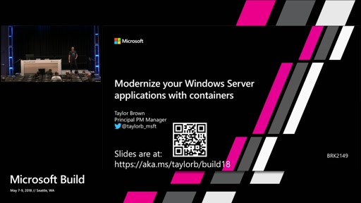 Modernize your Windows Server applications with containers