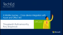 A Mobile Journey – Cross-device integration with Azure and Office 365