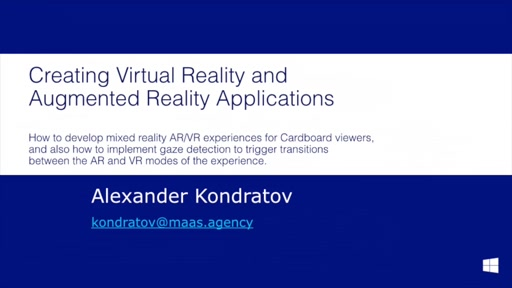 6.2 | How to develop mixed reality AR/VR experiences for Cardboard viewers