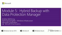 (Module 5) Hybrid Backup with Data Protection Manager
