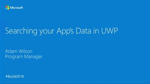 Advanced File Searching in UWP