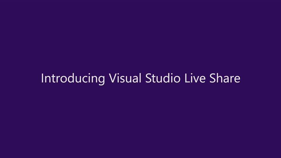Introducing Visual Studio Live Share