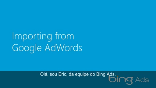 Importando do Google Adwords