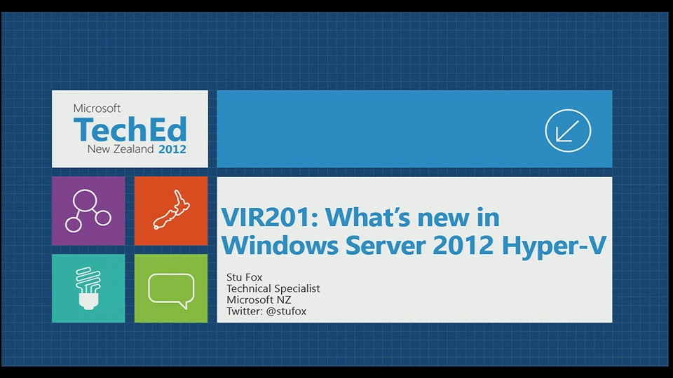 What's New in Windows Server 2012 Hyper-V