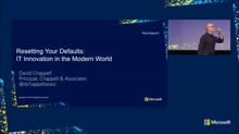 Closing keynote - Resetting Your Defaults: IT Innovation in the Modern World