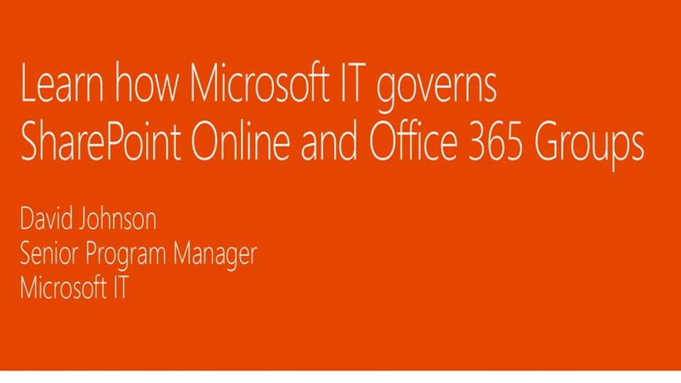 learn how microsoft it governs sharepoint online and