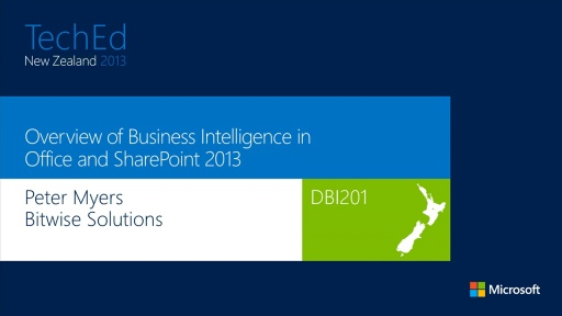 Overview of Business Intelligence in Office and SharePoint 2013