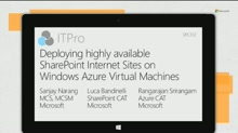 Deploying highly available SharePoint Internet Sites on Windows Azure Virtual Machines