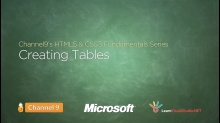 Creating Tables - 09