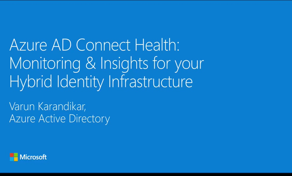 Azure AD Connect Health : Monitor you identity bridge