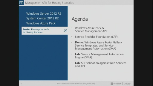 Session 5 – Management APIs from Microsoft and Windows Server Enable Customization and Extensibility for Hosting Service Providers