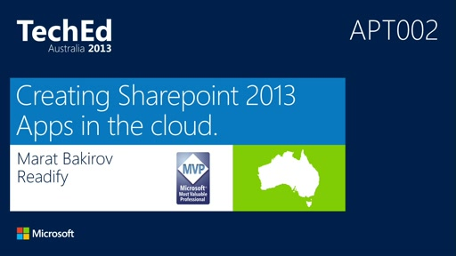Creating SharePoint 2013 Apps in the Cloud