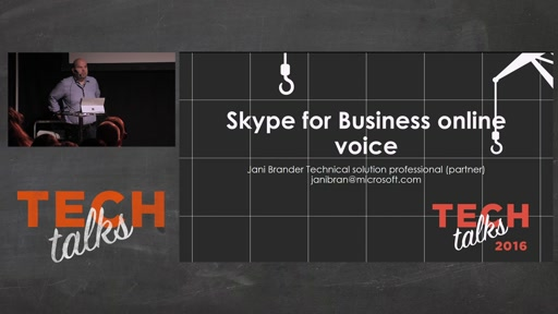 Tech Talks 2016 Plantronics Stage Skype for Business Online - Puhepalvelut
