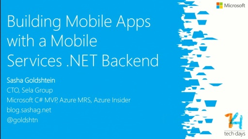 Building Mobile Apps with a Mobile Services .NET Backend