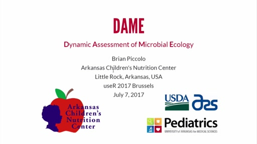 Dynamic Assessment of Microbial Ecology (*DAME*): A Shiny App for Analysis and Visualization of Microbial Sequencing Data
