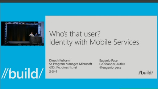 Who's That User? Identity with Mobile Services