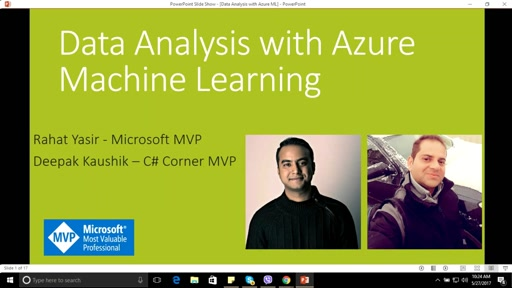 Webinar on Blob Storage and Data Analysis using Azure Machine Learning by Rahat Yasir & Deepak Kaushik