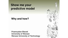 Show Me Your Model: tools for visualisation of statistical models
