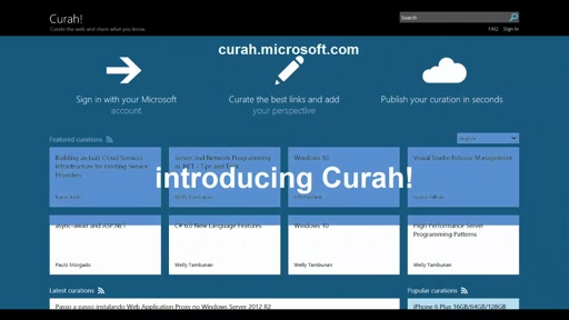 Curah! Curate the web and share what you know
