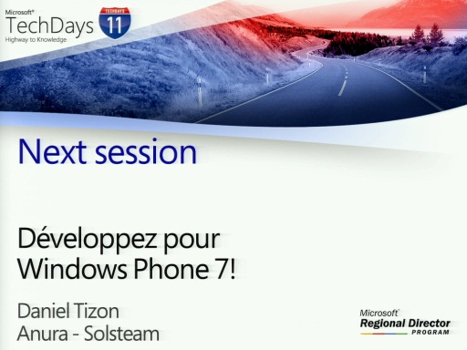 TechDays 11 Geneva - Développez pour Windows Phone 7!