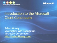 VS2008 Training Kit: Introduction to the Microsoft Client Continuum