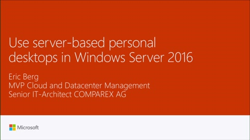 Use server-based personal desktops in Server 2016