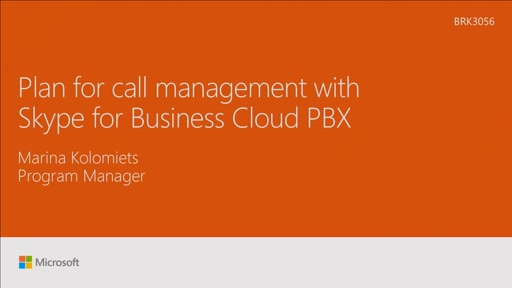 Plan for call management with Skype for Business Cloud PBX